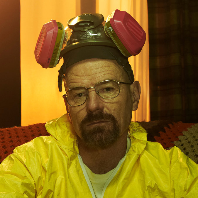 Photo of Walter White, the main character played by Bryan Cranston