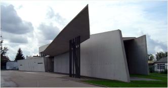 Photo - Vitra fire station, Baden-Wuerttemberg, Weil am Rhein, Germany – Zaha Hadid, 1994