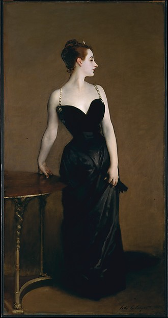Photo of a painting entitled Madame X - by John Singer Sargent 1883-84
