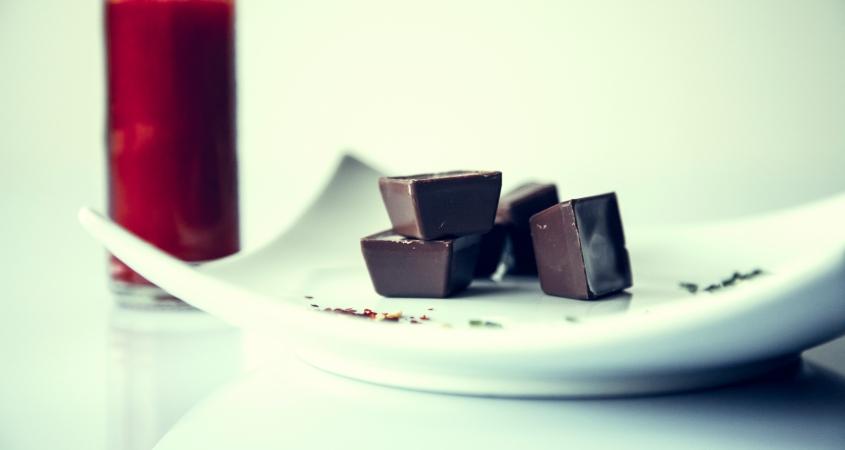 Photo of hot chocolate and chocolates