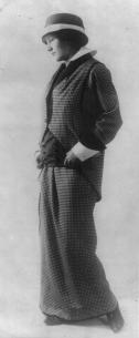 Wearing a Check Suit by Paul Poiret