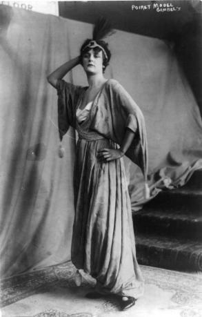 Model Wearing a Paul Poiret Dress