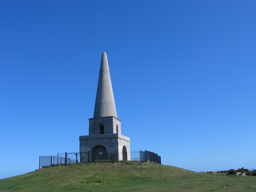 Photo of The Obelisk on Killiney Hill in Dublin.