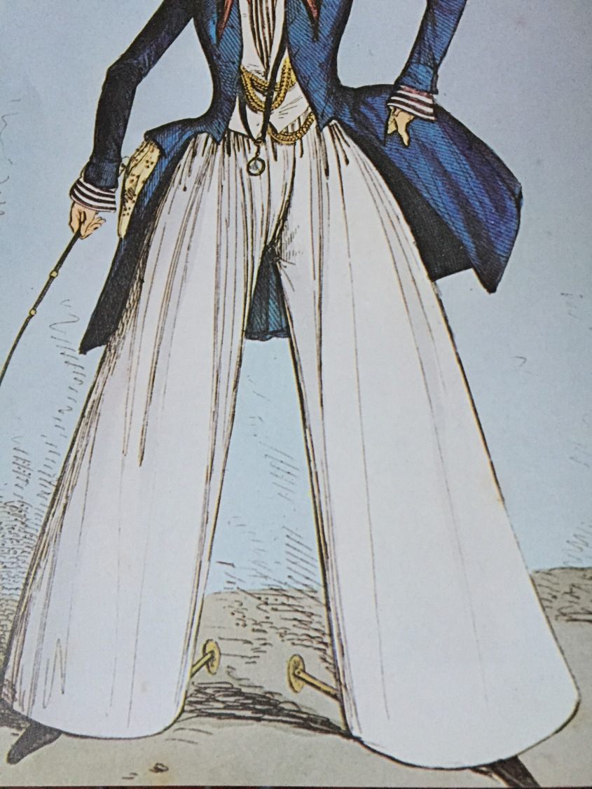 White Baggy Mens Trousers, circa 1817