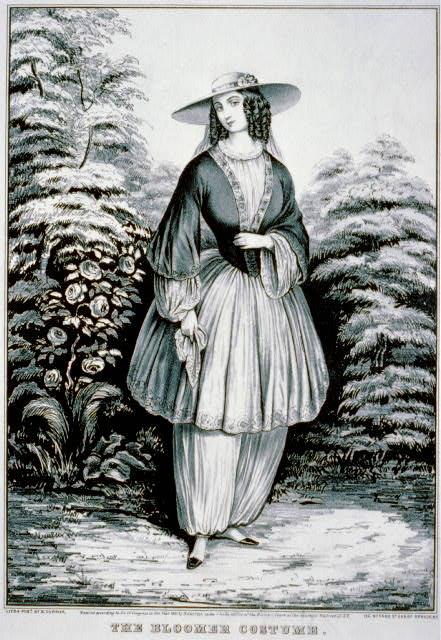 Bloomer, circa 1850s.
