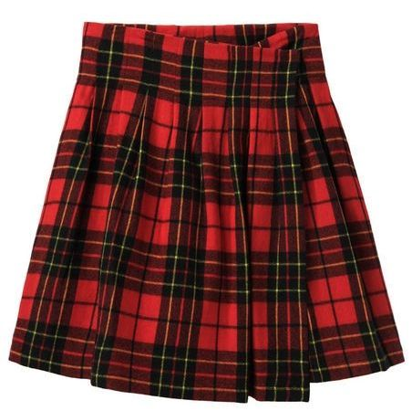 plaid-wrapped-skirt