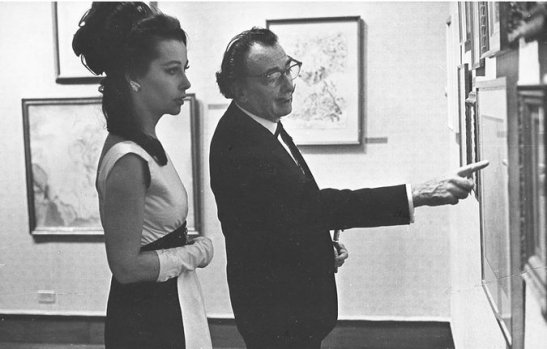 Ultra Violet and Salvador Dali
