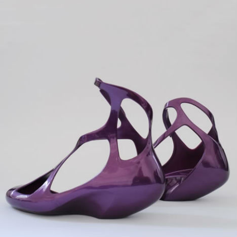 Shoes designed by Zaha Hadid for Melissa