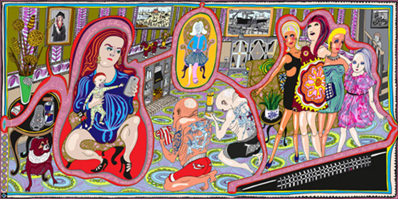 Grayson-Perry-Adoration of the Cage Fighters