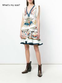 Chloe ruffled printed mini dress on Pennzer