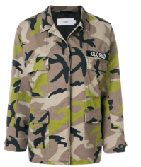 Closed camouflage shirt jacket on Pennzer