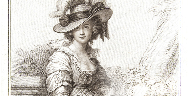 Engraving of Maria Cosway 1785